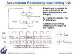 accumulator revisited proper timing 1 2