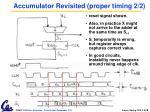 accumulator revisited proper timing 2 2