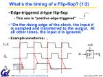 what s the timing of a flip flop 1 2