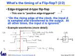 what s the timing of a flip flop 2 2
