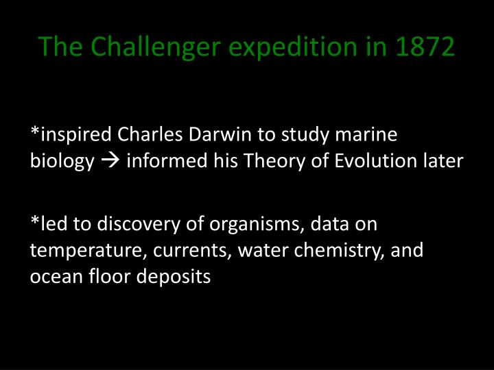 The Challenger expedition in 1872