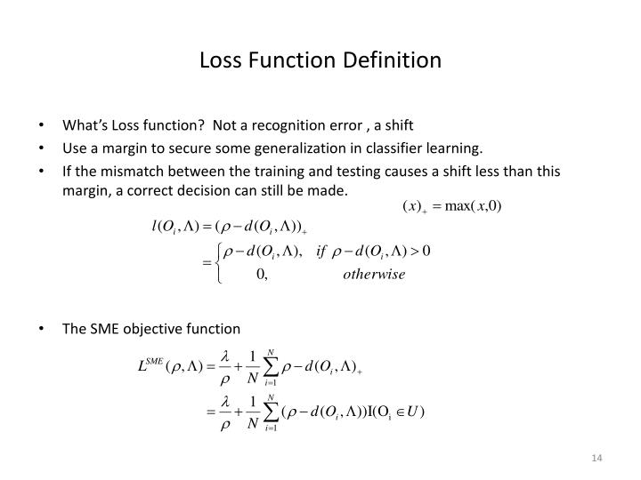 Loss Function Definition