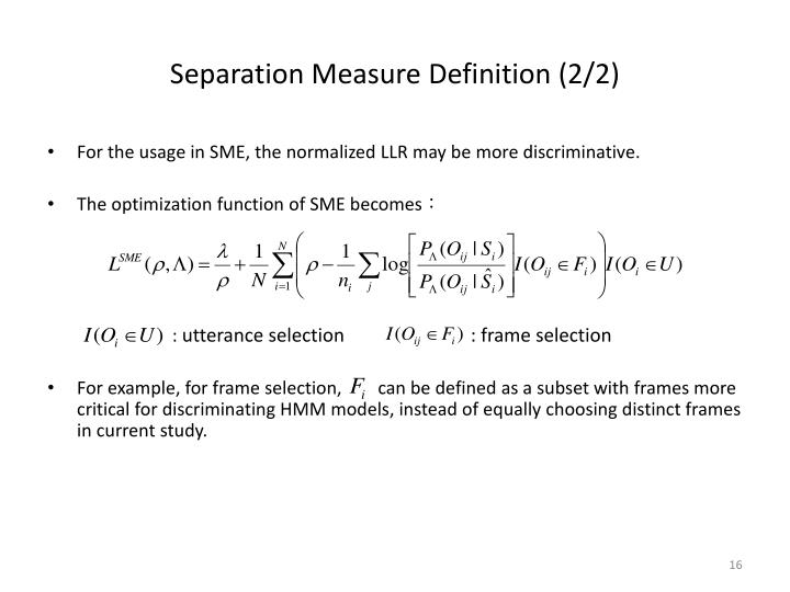 Separation Measure Definition (2/2)