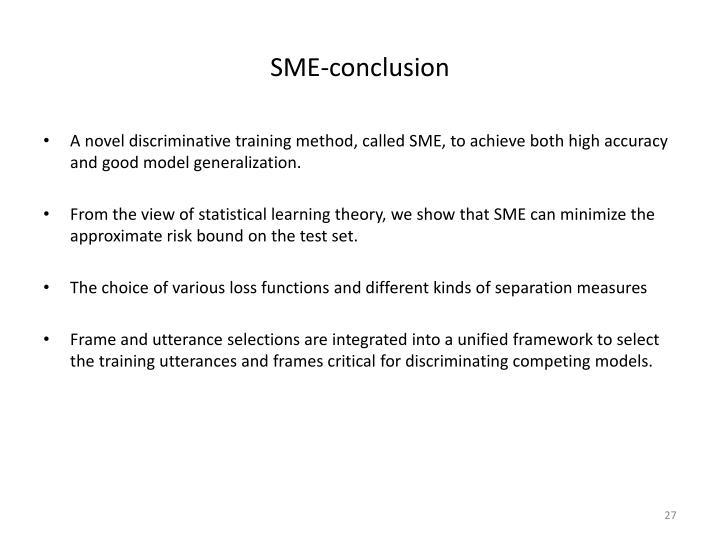 SME-conclusion
