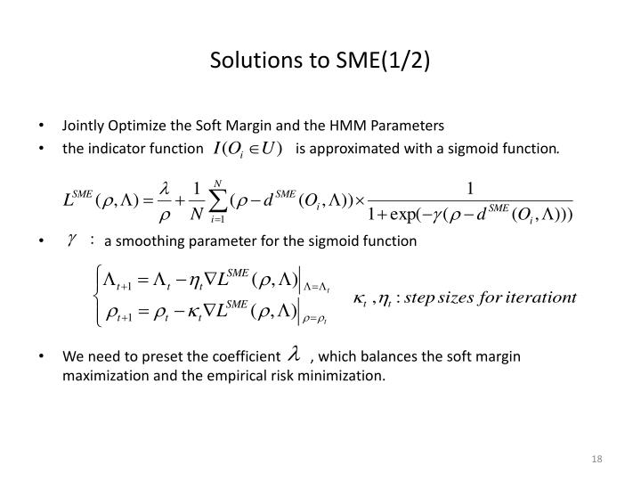 Solutions to SME(1/2)