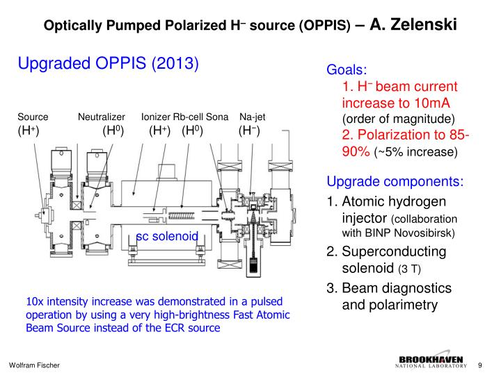 Optically Pumped Polarized H