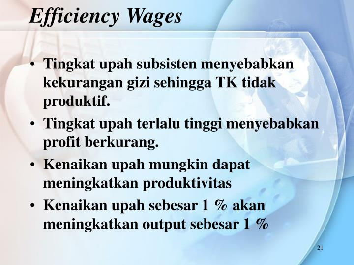 Efficiency Wages