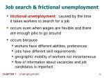 job search frictional unemployment