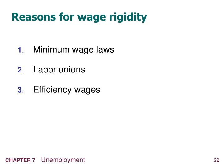 Reasons for wage rigidity