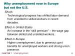 why unemployment rose in europe but not the u s