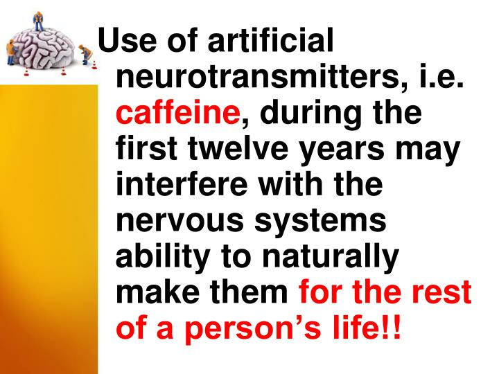 Use of artificial neurotransmitters, i.e.