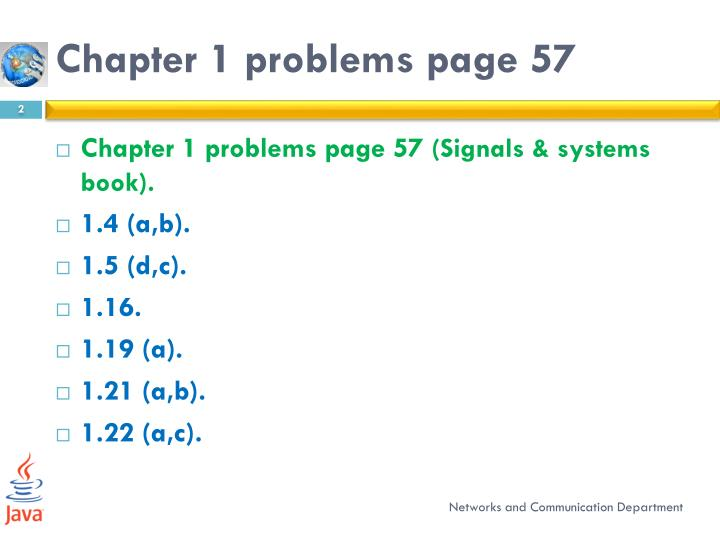Chapter 1 problems page 57