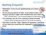 meeting etiquette