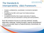 the standards interoperability s i framework