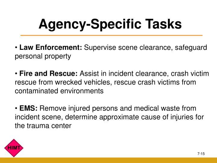 Agency-Specific Tasks