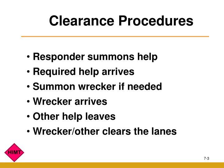 Clearance Procedures