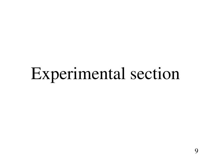 Experimental section