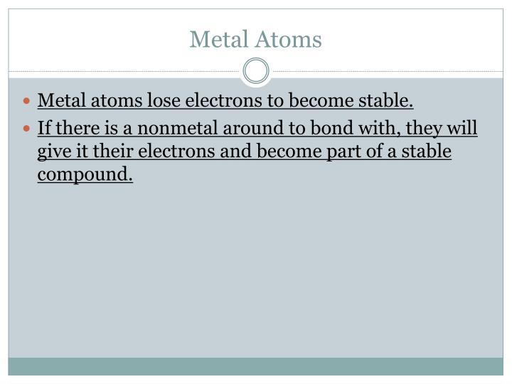 Metal Atoms