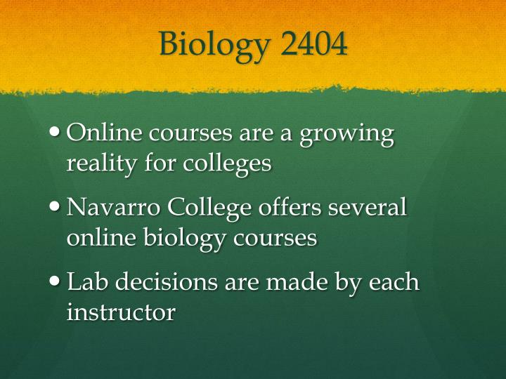 Biology 2404