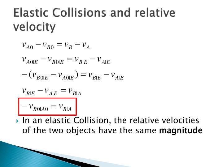 Elastic Collisions and relative velocity
