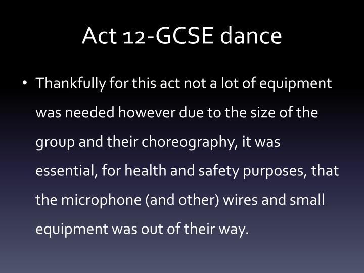 Act 12-GCSE dance