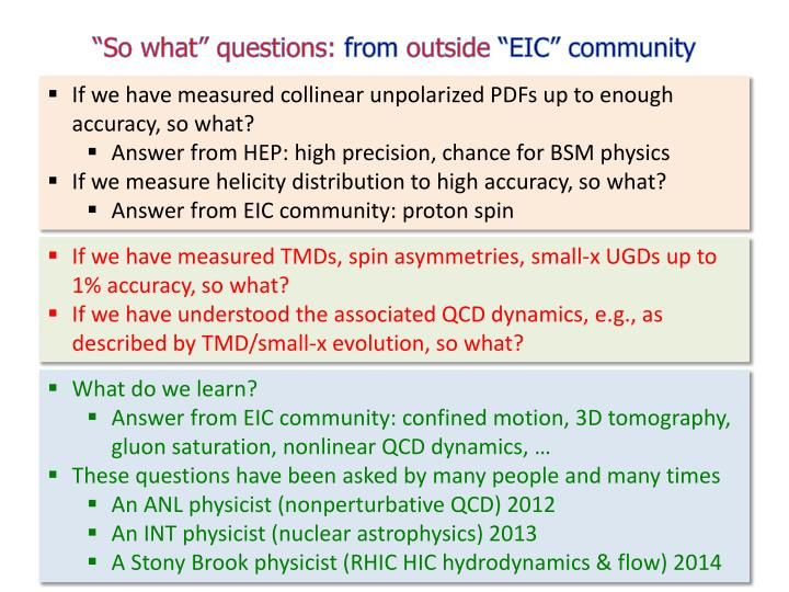 """""""So what"""" questions:"""