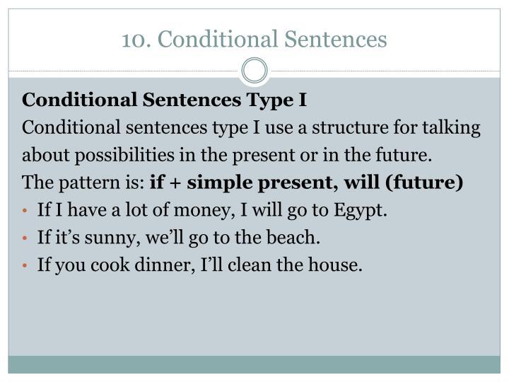 10. Conditional Sentences