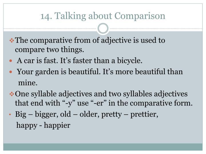 14. Talking about Comparison