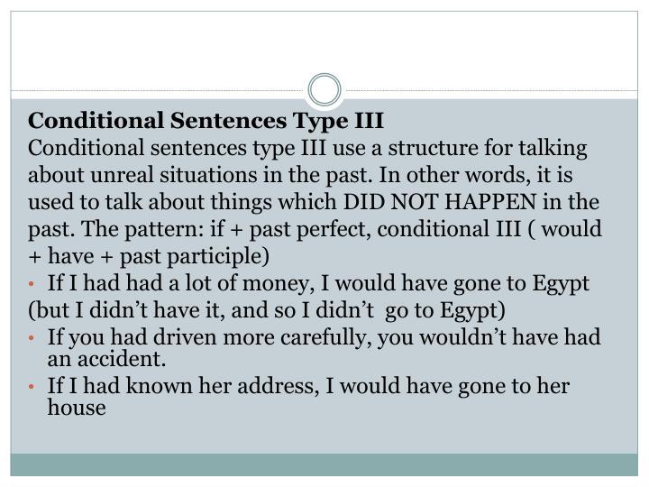 Conditional Sentences Type III