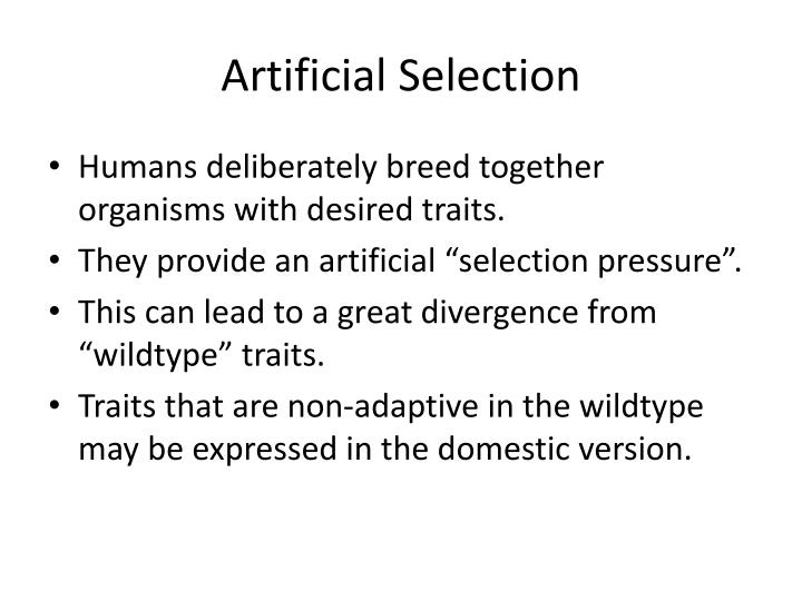 Artificial selection1