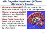 mild cognitive impairment mci and alzheimer s disease