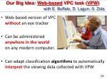 our big idea web based vpc task vpw with e buffalo d lagun s zola