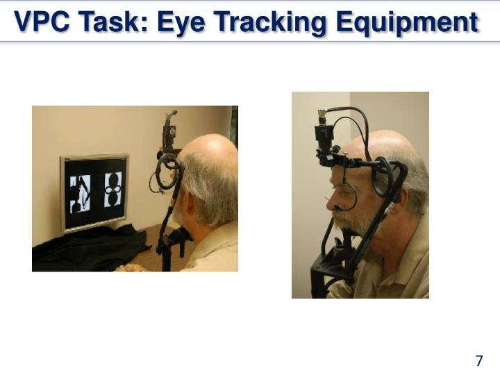 VPC Task: Eye Tracking Equipment
