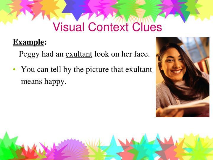 Visual Context Clues