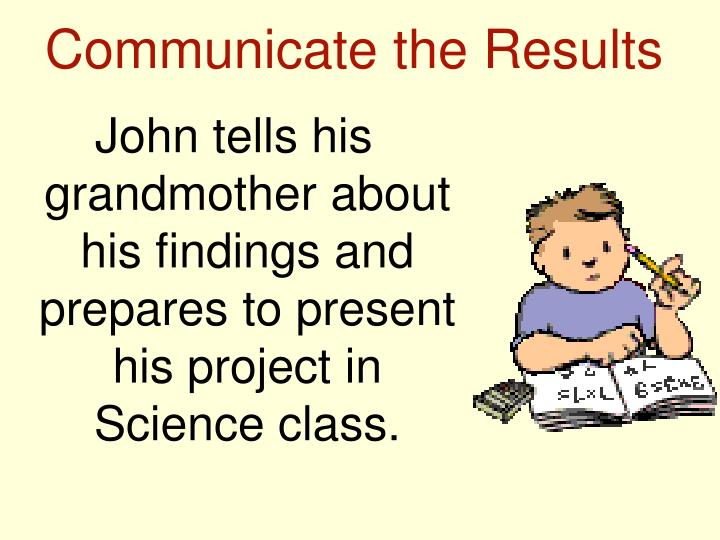 Communicate the Results