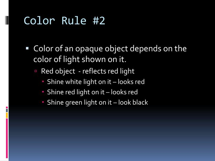 Color Rule #2