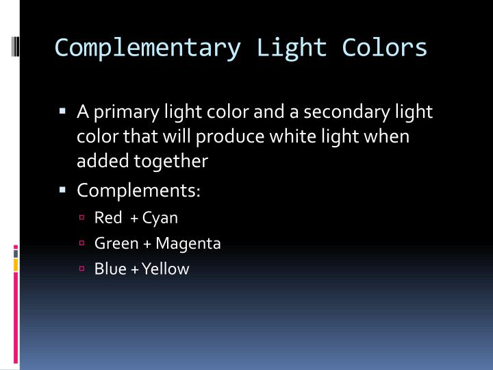 Complementary Light Colors