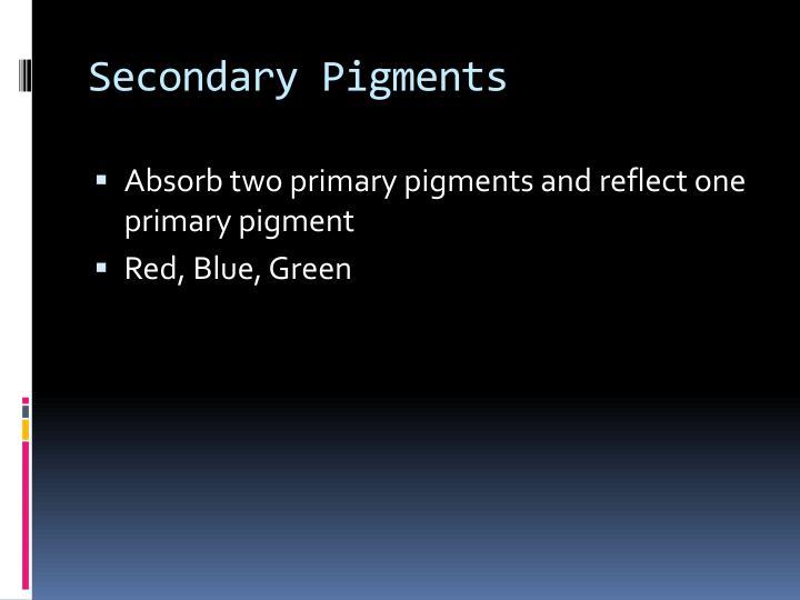 Secondary Pigments