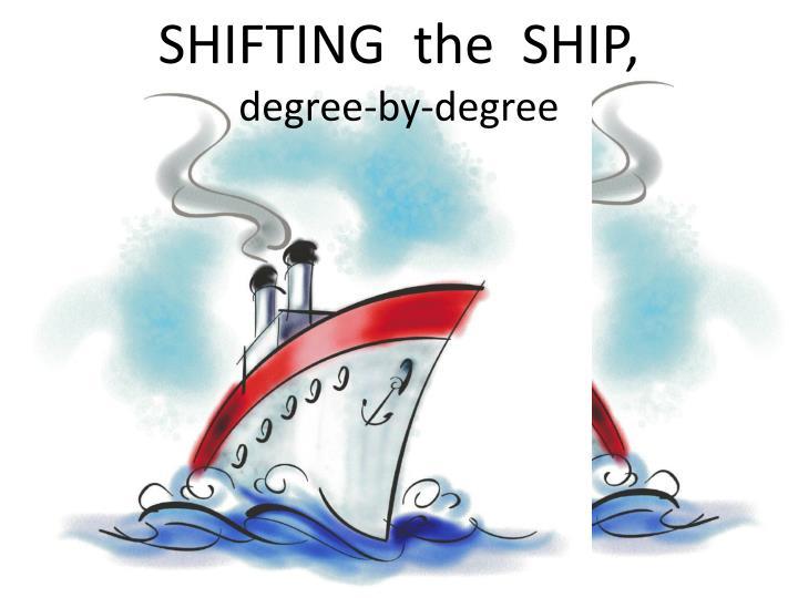 SHIFTING  the  SHIP,
