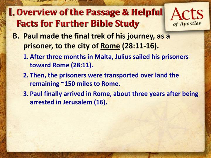 Overview of the passage helpful facts for further bible study1