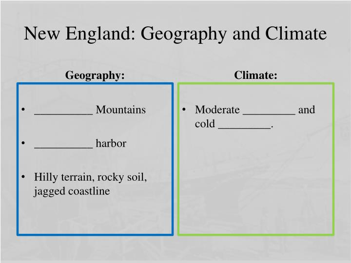New England: Geography and Climate