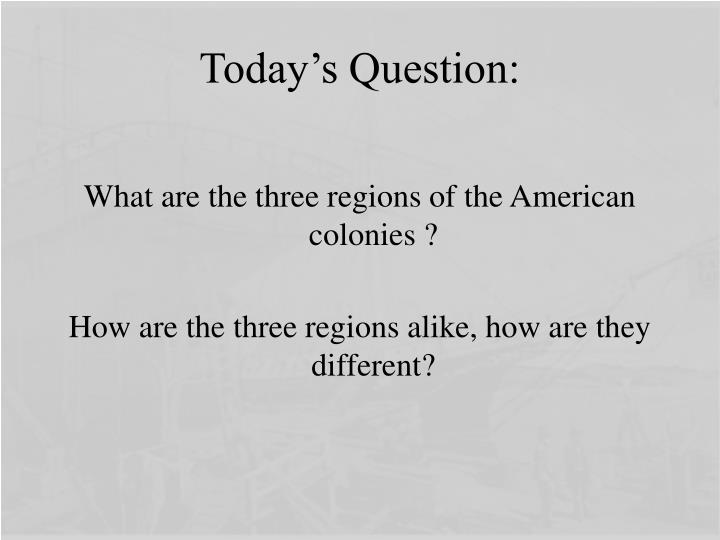 Today's Question: