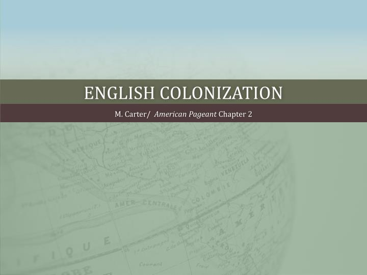 English colonization