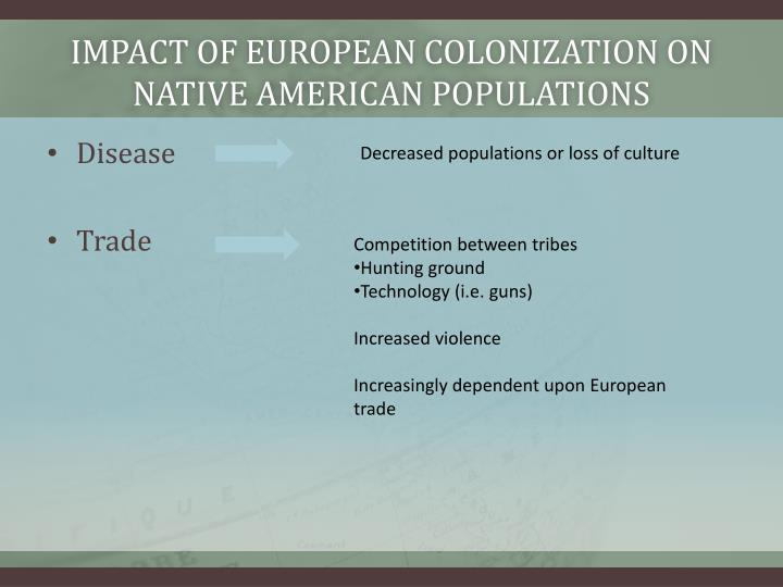Impact of European colonization on native American populations