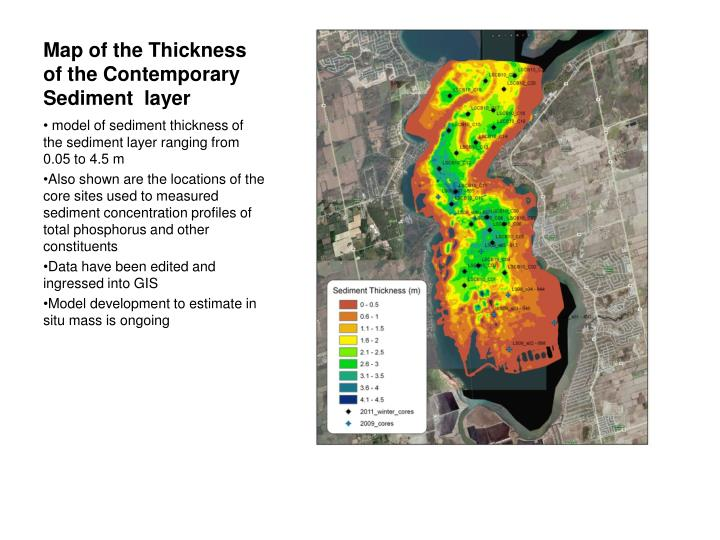 Map of the Thickness of the Contemporary Sediment  layer