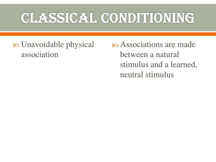 Unavoidable physical association