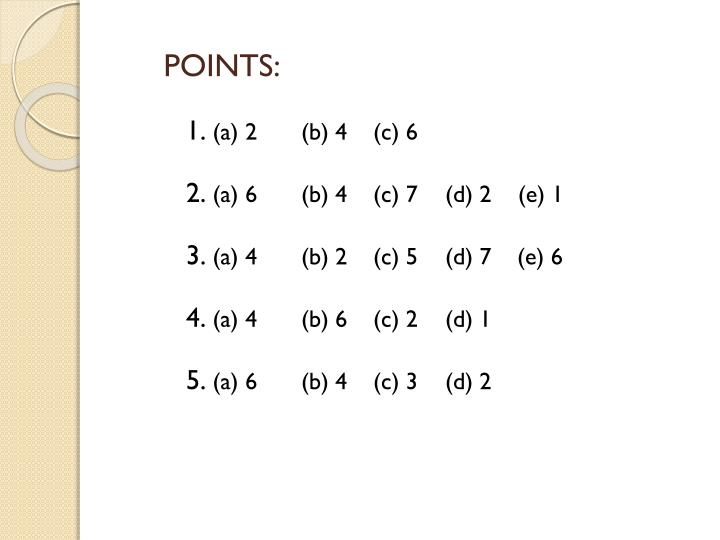 POINTS: