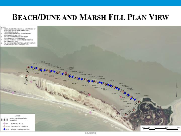 Beach/Dune and Marsh Fill Plan View