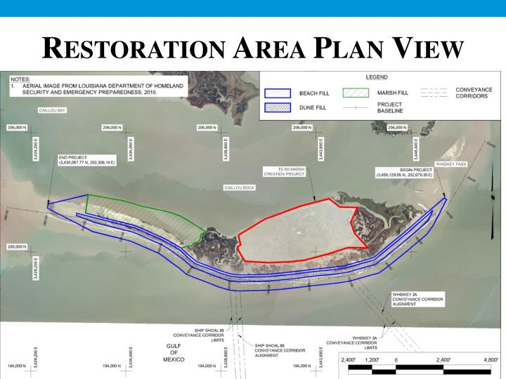 Restoration Area Plan View