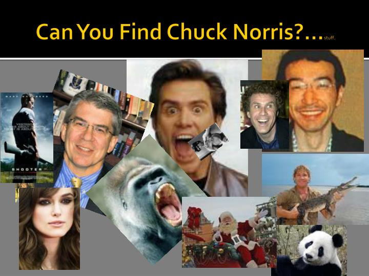 Can You Find Chuck Norris?...